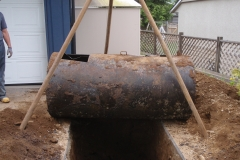 Oil tank removal 2