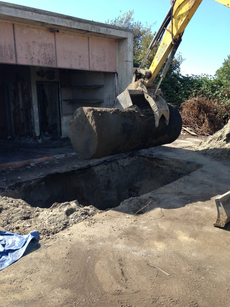 Oil Tank Demolition : Commercial storage tank removal oil